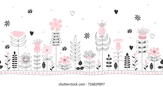 Horizontal seamless abstract nature background