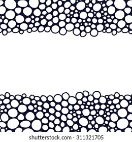 Horizontal seamless abstract pattern with bubbles