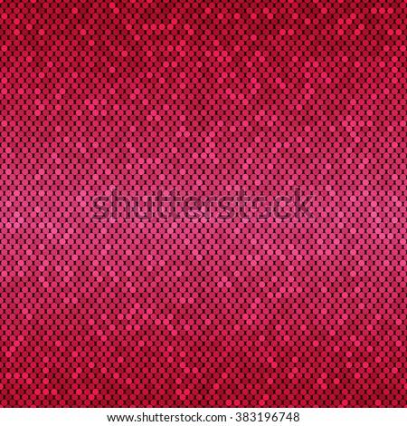 Horizontal Seamless Abstract Pattern Pink Mosaic Stock