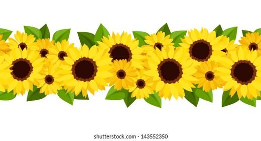 sunflower border images stock photos vectors shutterstock rh shutterstock com Printable Sunflower Border Clip Art sunflower border clip art free downloadable