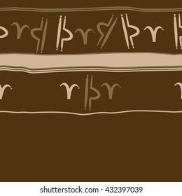 Horizontal seamless  pattern of zodiac signs, doodles,  object,aries,libra, stripes, spot, copy space. Hand drawn.