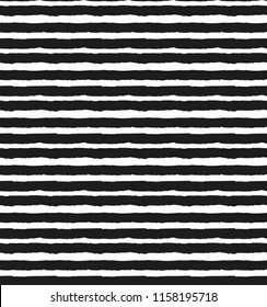 Horizontal small strips. Seamless black-and-white (monochrome) pattern. Vector illustration in the style of hand-drawn.