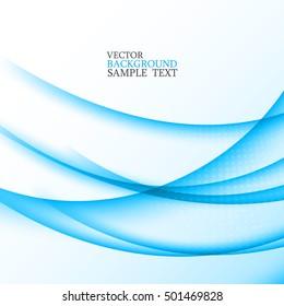 Horizontal ,smooth ,transparent lines.Design blue background