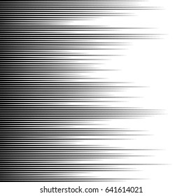 Horizontal speed lines for comic books.Straight, parallel lines abstract geometric texture,Monochrome lines pattern, vertically seamless.Black and white background