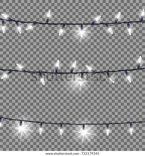 newest collection f54ee 6f9fe Horizontal Strings Fairy Lights Black Wire Stock Vector ...