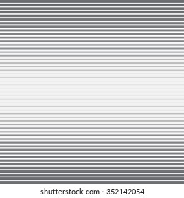 Horizontal stripes perspective vector pattern. Eps10.