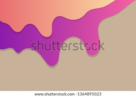 Horizontal Template 3 D Abstract Background Paper Stock