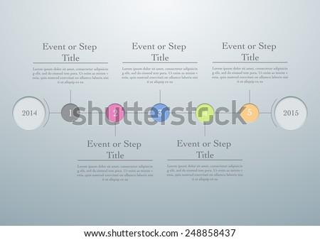 horizontal timeline easy editable template vector stock vector