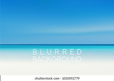 horizontal wide summer beach blurred background. Sunset and sunrise sea blurred background.