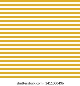 Horizontal yellow and white stripes seamless vector background