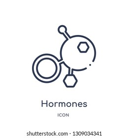 hormones icon from sauna outline collection. Thin line hormones icon isolated on white background.