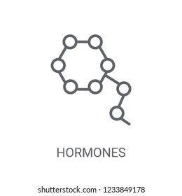Hormones icon. Trendy Hormones logo concept on white background from sauna collection. Suitable for use on web apps, mobile apps and print media.
