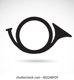 Horn icon isolated on white background. Vector art.