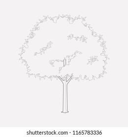 Hornbeam icon line element. Vector illustration of hornbeam icon line isolated on clean background for your web mobile app logo design.
