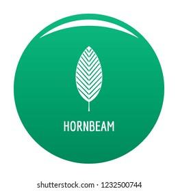 Hornbeam leaf icon. Simple illustration of hornbeam leaf vector icon for any design green