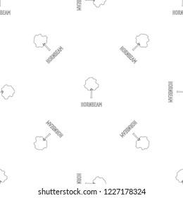 Hornbeam pattern seamless vector repeat geometric for any web design
