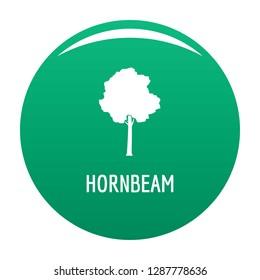 Hornbeam tree icon. Simple illustration of hornbeam tree vector icon for any design green