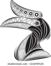 Hornbill Coloring Page Tattoo