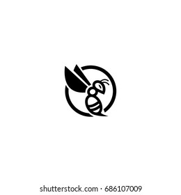 Hornet, bee logo icon