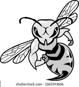 Hornet Bee Mascot