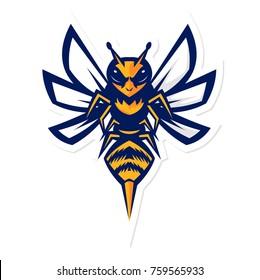 hornet bee mascot logo