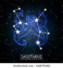 Horoscope Constellation Zodiac Space Star Vector sagittarius
