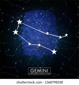 Horoscope Constellation Zodiac Space Star Vector gemini.