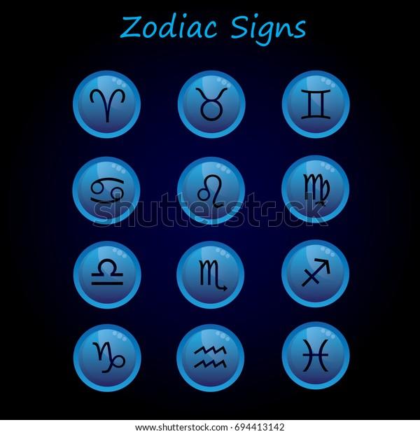 Horoscope Set Leo Virgo Scorpio Libra Stock Vector (Royalty Free