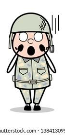 Horrible - Cute Army Man Cartoon Soldier Vector Illustration