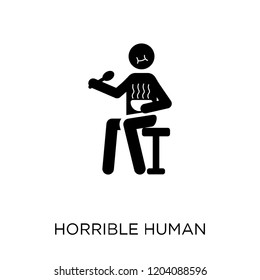 horrible human icon. horrible human symbol design from Feelings collection. Simple element vector illustration on white background.