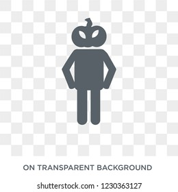 horrible human icon. Trendy flat vector horrible human icon on transparent background from Feelings collection.