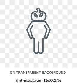 horrible human icon. Trendy flat vector horrible human icon on transparent background from Feelings collection. High quality filled horrible human symbol use for web and mobile