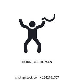 horrible human isolated icon. simple element illustration from feelings concept icons.