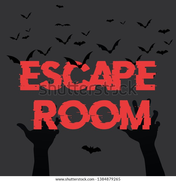 Horror Room Escape Room Concept Scary Stock Vector (Royalty Free