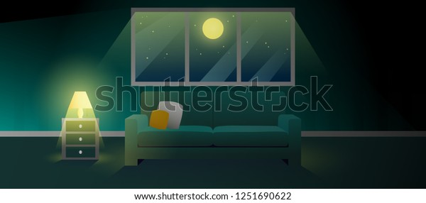 Surprising Horror Scary Darkness Living Room Light Stock Vector Andrewgaddart Wooden Chair Designs For Living Room Andrewgaddartcom