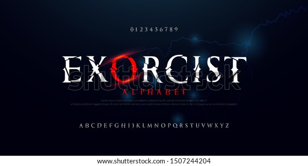 Horror Scary Movie Alphabet Font Typography Stock Vector Royalty Free 1507244204