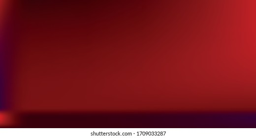 Horror Sunset Spotlight Smooth Surface Backdrop. Bordo Dark Smooth Surface Gradient Mesh Illustration. Burgundy Horizontal Seamless Vector. Neon Nightlife Bright Modern Gradient Background.