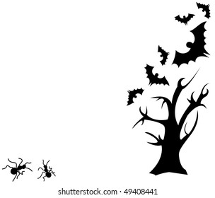 Horror tree background