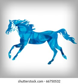 Horse, abstract background