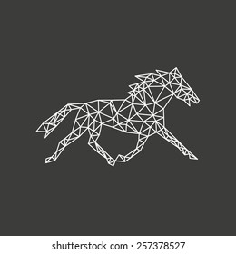 Horse abstract isolated on a white backgrounds, vector illustration