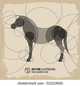 Horse Background vector Illustration