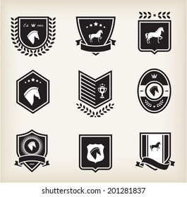 horse badges