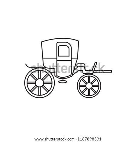 Horse Carriage Icon Outline Stock Vector Royalty Free 1187898391