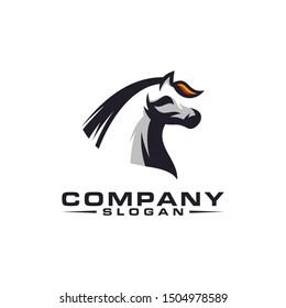 horse color logo design vector