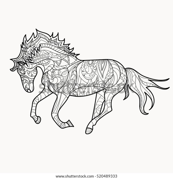 - Horse Coloring Book Coloring Page Pattern Stock Vector (Royalty Free)  520489333