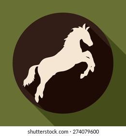 Horse design over green background, vector illustration.