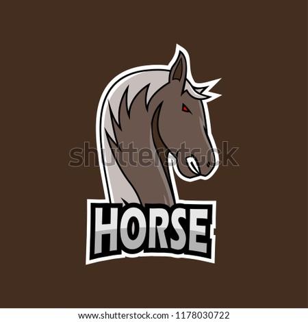 horse esports logo template stock vector royalty free 1178030722