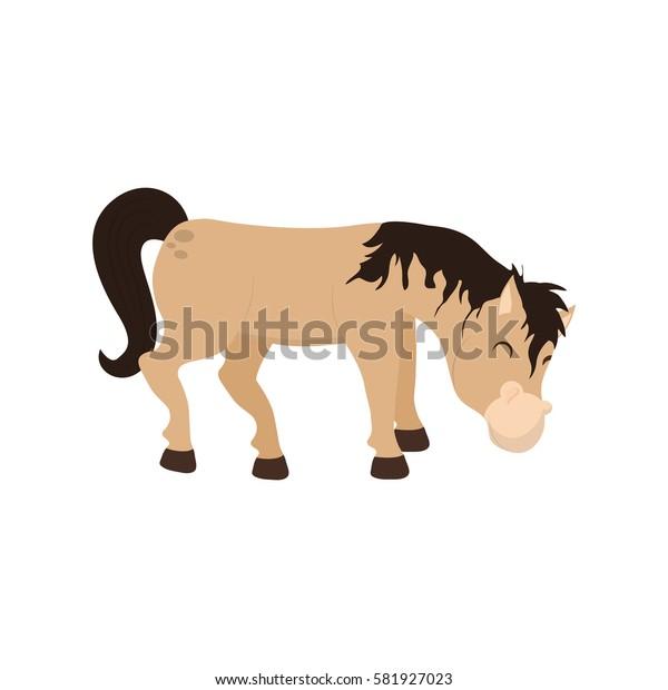 Horse farm animal icon vector illustration graphic design