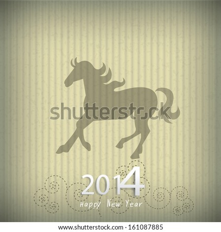 horse happy new year 2014 vector eps 10 used as a post card