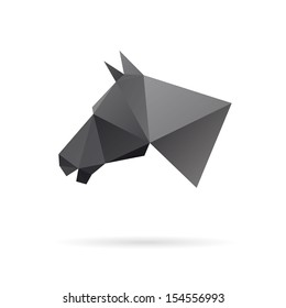 Horse head abstract isolated on a white backgrounds, vector illustration